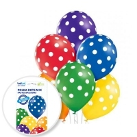 "Balony ""12"" - ""Polka Dots MIX"" - 6szt"