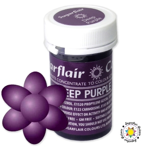 Barwnik Sugarflair Paste Colours - DEEP PURPLE Spectral 25g