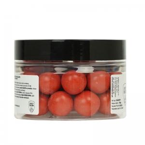 Chrupiące kulki dekoracyjne w mlecznej czekoladzie - czerwone 150g