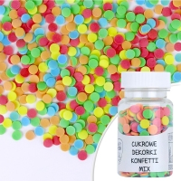 Cukrowe dekorki KONFETTI MIX 6mm - 30g