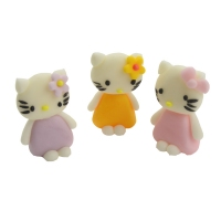 Figurki cukrowe - kitty kotek - mix 20szt