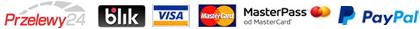 loga Przelewy24 Blik Visa MasterCard Paypal Vivus
