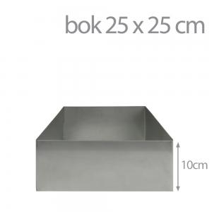 Kwadratowy rant do pieczenia i składania tortów 25 x 25 cm (wys 10cm)
