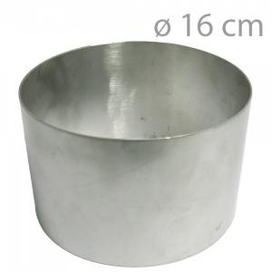 Okrągły rant do pieczenia i składania tortów 16cm (wys 10cm)