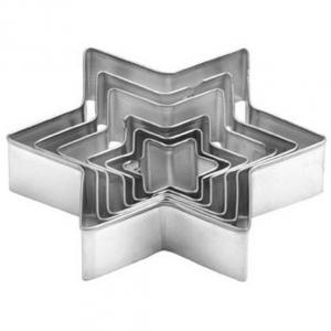 Wykrawaczki - formy metalowe Gwiazdki 6szt